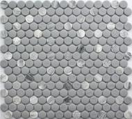 Roca Rockart Penny Round Grey Granite 12 x 12 Mosaic FWMGST2009