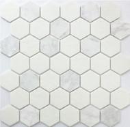Roca Rockart Hexagon Carrara 12 x 12 Mosaic  FWMGST1001