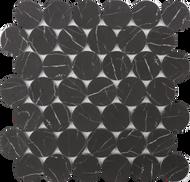 Roca Rockart Dots Nero Marquina 12 x 12 Mosaic FWMRGLDO01