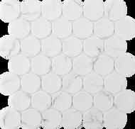Roca Rockart Dots White Statuary 12 x 12 Mosaic FWMRGLDO02