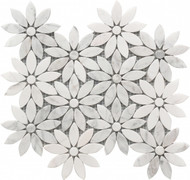 Roca Rockart Daisy Flower Marble 10 x 12 Mosaic USTMMFLO004