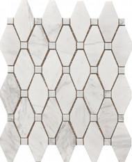 Roca Rockart Rhombus Large Marble 12 x 12 Mosaic USTMROMB006