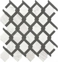 Roca Rockart Medallion Black & White Marble 12 x 12 Mosaic USTMNETB009