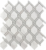Roca Rockart Medallion Grey Marble 12 x 12 Mosaic USTMNETG010