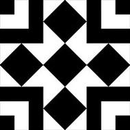 GT Glass Retro Nueve Checkers Blocks 9213
