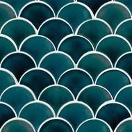 MSI Azul Scallop Mosaic SMOT-PT-AZULSCAL8MM