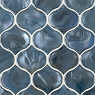 MSI Blue Shimmer Arabesque Mosaic SMOT-GLS-BLUSHI8MM