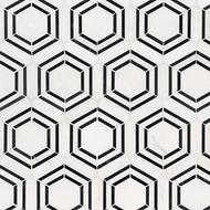 MSI Georama Nero Polished Marble Mosaic SMOT-GEORAMA-NEROP