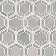 MSI Hexagono Grigio Polished Marble Mosaic SMOT-HEXGON-GRIGIOP