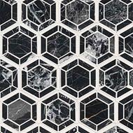 MSI Hexagono Nero Polished Marble Mosaic SMOT-HEXGON-NEROP