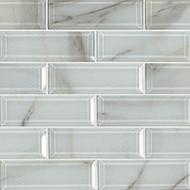 MSI Ivory Amber Beveled Subway 2 x 6 Mosaic SMOT-GLSST-IVOAMB8MM