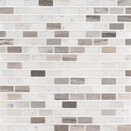 MSI Palisandro 1 x 4 Mini Brick Polished Marble Mosaic SMOT-PALI-MB10MM