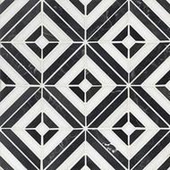 MSI Rhombix Nero Polished Marble Mosaic SMOT-RHOMBIX-NEROP