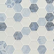 MSI Vista Azul Hexagon Mosaic SMOT-GLS-VISAZU6MM