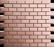 Roca Metals Rose Gold Brushed Brick 12 x 12 Mosaic FWMRGBR-12M