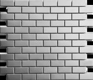 Roca Metals Silver Brushed Brick 12 x 12 Mosaic FWMSLBR-12M