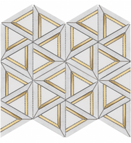 Roca Rockart Carrara White Metal 12 x 14 Mosaic USTMCWME011