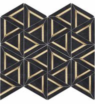 Roca Rockart Nero Marquina Metal 12 x 14 Mosaic USTMNMME012