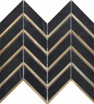 Roca Rockart Nero Arrow Metal 10 x 12 Mosaic USTMNMARE014