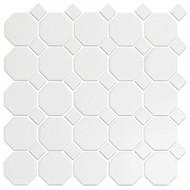Roca CC Mosaics Octagonal Snow White 12 x 12 Matte Mosaic UFCC100-12M