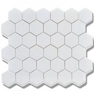 "Roca CC Mosaics Hexagon 2"" Matte White 12 x 12 Mosaic UFCC102-12M"