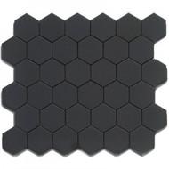 "Roca CC Mosaics Hexagon 2"" Matte Black 12 x 12 Mosaic UFCC103-12M"