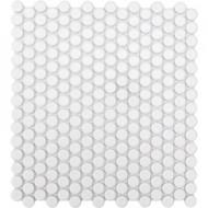 Roca CC Mosaics Penny Round Matte White 12 x 12 Mosaic UFCC108-12M