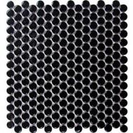 Roca CC Mosaics Penny Round Bright Black 12 x 12 Mosaic UFCC111-12M