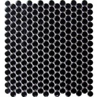 Roca CC Mosaics Penny Round Matte Black 12 x 12 Mosaic UFCC159-12M