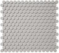 Roca CC Mosaics Penny Round Matte Gray 12 x 12 Mosaic UFCC116-12M