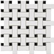 Roca CC Mosaics Basketweave White Matte 12 x 12 Mosaic UFCC107-12M