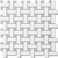 Roca CC Mosaics Basketweave Gray Dot Matte 12 x 12 Mosaic UFCC115-12M