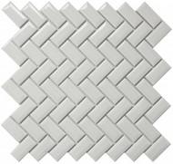 Roca CC Mosaics Diamond Herringbone Bright White 12 x 12 Mosaic UFCC119-12M