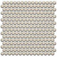 Roca CC Mosaics Plus Penny Round Bright Cream 12 x 12 Mosaic UFCC126-12M