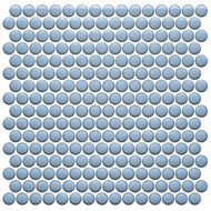 Roca CC Mosaics Plus Penny Round Bright Sky Blue 12 x 12 Mosaic UFCC123-12M