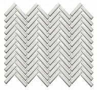 Roca CC Mosaics Plus Herringbone Bright Antique White 12 x 12 Mosaic UFCC129-12M
