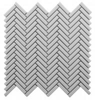Roca CC Mosaics Plus Herringbone Bright White 12 x 12 Mosaic UFCC128-12M