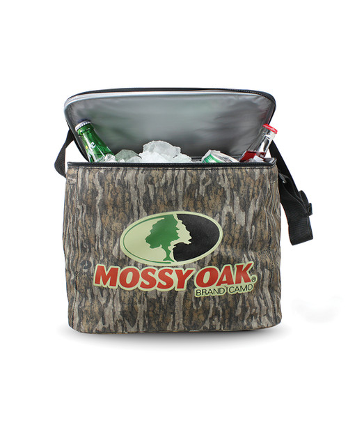 The soft side 24-Count Cooler is made of durable and insulating 600 denier. The cooler will hold 24 can drinks packed with ice. It has a zip around top and a shoulder strap for easy open and carry. Silk-screened logo on front and top.