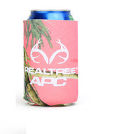 RealTree Pink Camo Horned Logo Can Insulator