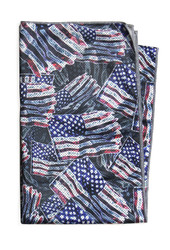 Made of 50% Polyester/10% Nylon blend, the towel is moisture wicking and provides UPF 50 sun protection. Measures 21 x 40 inches. Machine washable and reusable.