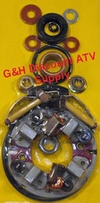 1985-1986 Honda TRX250 Fourtrax FOUR BRUSH Starter Rebuild Kit