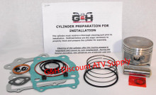 Honda TRX 250 Fourtrax Cylinder Top End Rebuild Kit Machining Service