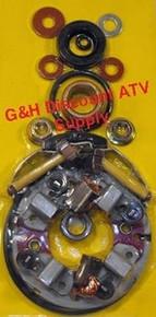 87-89 Honda TRX 350D Fourtrax FOUR BRUSH Starter Rebuild Kit (Long Shaft) *FREE U.S. SHIPPING*