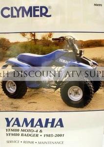 Yamaha YFM80 Badger Moto-4 CLYMER Repair Manual - G&H Discount ATV ... yamaha badger atv parts diagram
