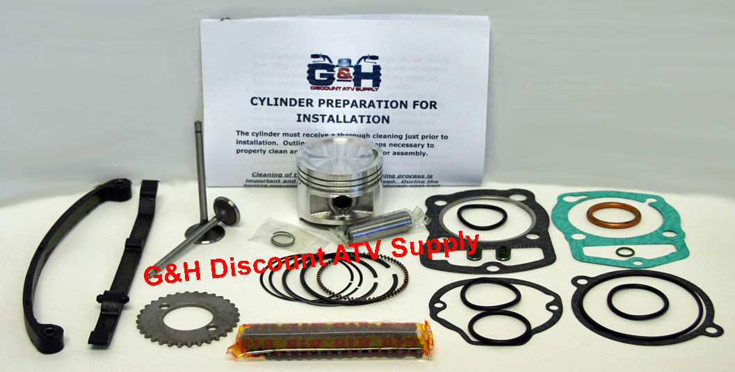 QUALITY Honda TRX 300 Fourtrax Engine Motor Top Rebuild Kit Machining Service