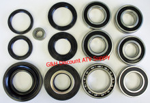 Honda TRX350 Rancher COMPLETE Rear Differential & Axle Bearing Seal Kit *FREE U.S. SHIPPING*