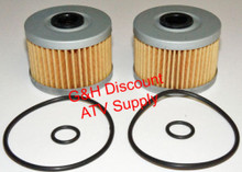 TWO OIL FILTERS WITH O-RINGS 1993-2009 Honda TRX300EX TRX 300EX *FREE U.S. SHIPPING*