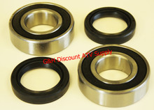 NEW 1988-2002 Kawasaki KLF 220 Bayou Rear Wheel Axle Tube Bearings & Seals Kit *FREE U.S. SHIPPING*