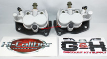 NEW 2004-2007 Yamaha YXR 660 Rhino Front Left & Right Brake Calipers & Pads +Decals *FREE US SHIPPING*
