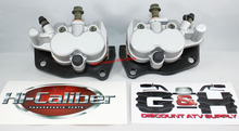 NEW 2006-2009 Yamaha YXR 450 Rhino Front Left & Right Brake Calipers & Pads +Decals *FREE US SHIPPING*